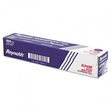 "Metro Aluminum Foil Roll, Light Gauge, 18"" X 500 Ft, Silver"