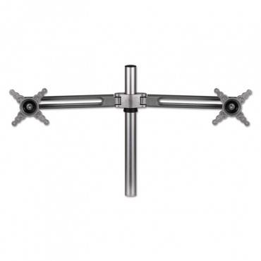 """Fellowes  LOTUS DUAL-MONITOR ARM KIT, FOR TWO MONITORS UP TO 27"""" & 13LBS, SILVER 8042901 1 Each"""