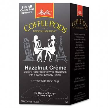Coffee Pods, Hazelnut Cream, 18 Pods/box