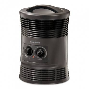 360 Surround Fan Forced Heater, 9 X 9 X 12, Gray