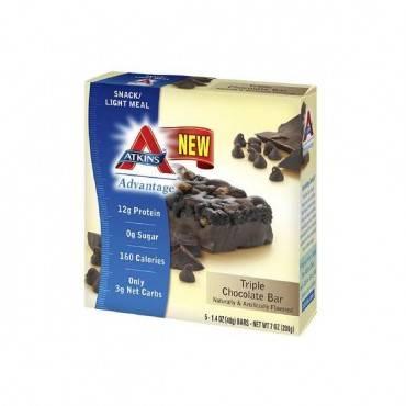 Atkins Advantage Bar - Triple Chocolate - Box of 5 - 1.4 oz