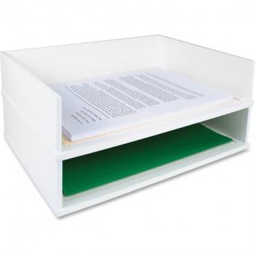 Victor W1154 Pure White Stacking Letter Tray (EA/EACH)