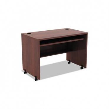 Alera Valencia Mobile Workstation Desk, 41 3/8 X 23 5/8 X 30, Med Cherry