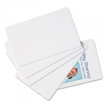 Sicurix Blank Id Card, 2 1/8 X 3 3/8, White, 100/pack