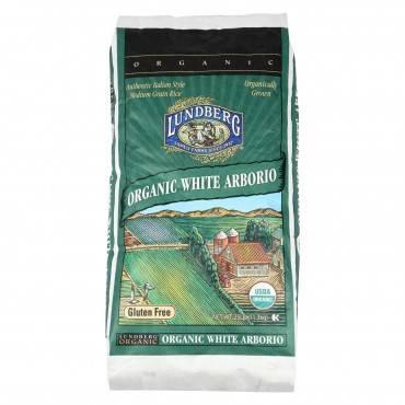 Lundberg Family Farms Organic California White Arborio Rice - 25 Lbs