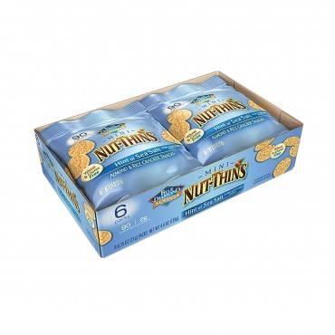 Blue Diamond Mini Nut Thins - Sea Salt - Case of 6 - 6/.74 oz
