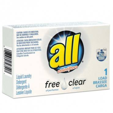 Free Clear He Liquid Laundry Detergent, Unscented, 1.6 Oz Vend-box, 100/carton