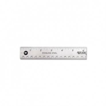 Stainless Steel Office Ruler With Non Slip Cork Base, 12""