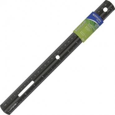 Westcott Recycled Double Bevel Plastic Ruler (EA/EACH)