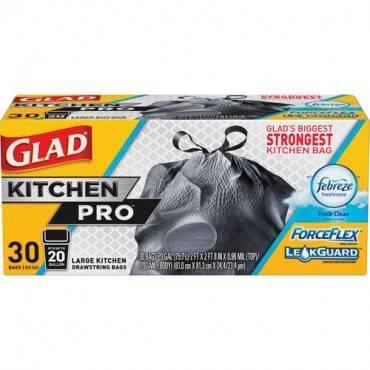 Glad ForceFlex KitchenPro 20-gal Drawstring Bags (EA/EACH)