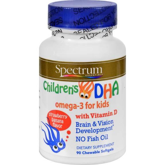 Spectrum essentials children 39 s dha strawberry banana 90 for Chewable fish oil