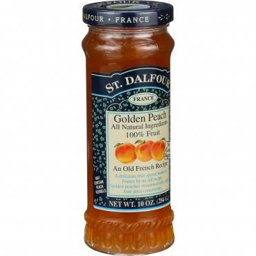 St Dalfour Fruit Spread - Deluxe - 100 Percent Fruit - Golden Peach - 10 Oz - Case Of 6