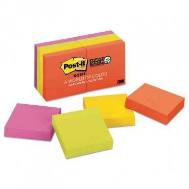 Pads In Marrakesh Colors, 2 X 2, 90-sheet, 8/pack