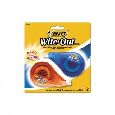 """Wite-out Ez Correct Correction Tape, Non-refillable, 1/6"""" X 472"""", 2/pack"""