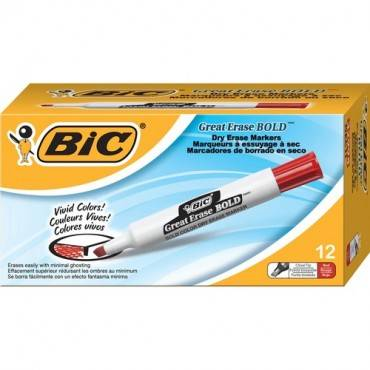 BIC Great Erase Bold Color Dry Erase Markers (DZ/DOZEN)