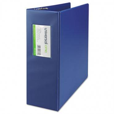 "Deluxe Non-view D-ring Binder With Label Holder, 3 Rings, 4"" Capacity, 11 X 8.5, Royal Blue"