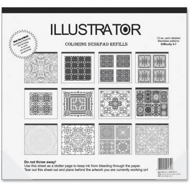Aurora Illustrator Coloring Deskpad Refills (EA/EACH)