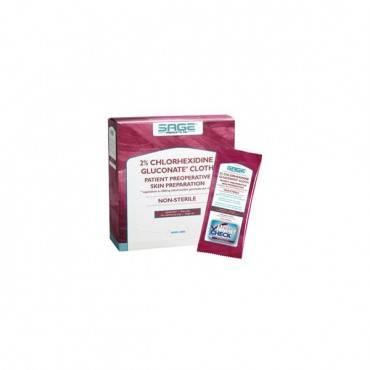 "2% Chlorhexidine Gluconate Cloth, 7.5"" X 7.5"" Part No. 9705 (2/package)"