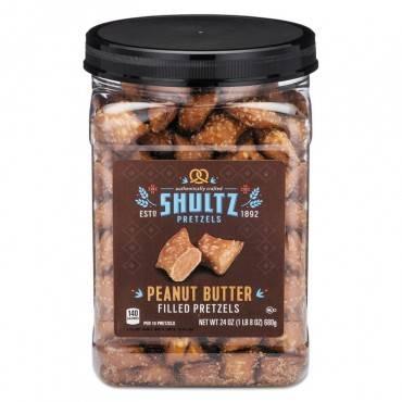 Shultz Pretzels, Peanut Butter, Tub, 1.5 Oz OFX3598 1 Each