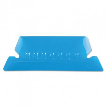 """Transparent Colored Tabs For Hanging File Folders, 1/5-cut Tabs, Blue, 2"""" Wide, 25/pack"""