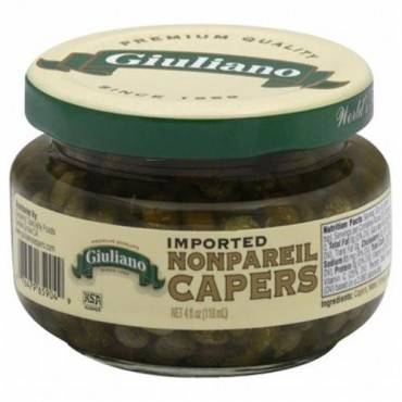 Giuliano's Specialty Foods - Capers - Non-pareil - Case Of 12 - 4 Fl Oz.