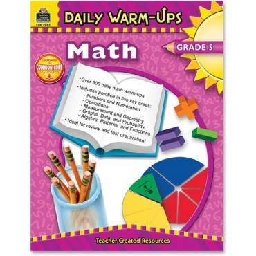 Teacher Created Resources Gr 5 Math Daily Warm-Ups Book Education Printed Book for Mathematics (EA/EACH)