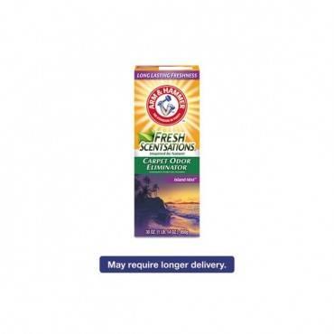 Fresh Scentsations Carpet Odor Eliminator, Island Mist, 30 Oz Box, 6/carton