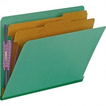 Smead End Tab Colored Pressboard Classification Folders with SafeSHIELD® Coated Fastener Technology (BX/BOX)