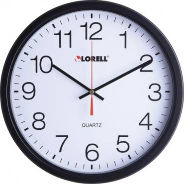 "Lorell 12-1/2"" Slimline Wall Clock (EA/EACH)"