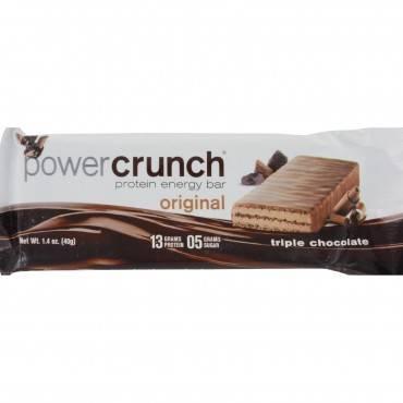 Power Crunch Bar - Triple Chocolate - Case Of 12 - 1.4 Oz