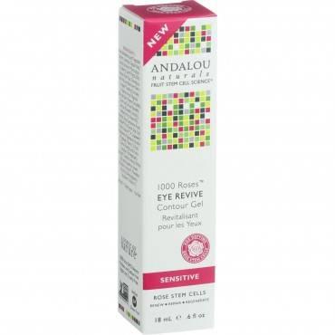 Andalou Naturals Eye Revive Contour Gel - 1000 Roses - .6 Oz