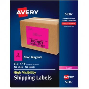 Avery® Neon Shipping Labels (BX/BOX)
