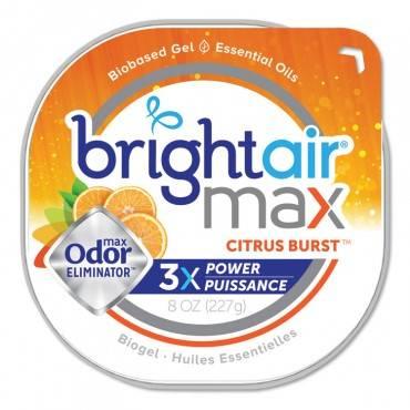 Bright Air  MAX ODOR ELIMINATOR AIR FRESHENER, CITRUS BURST, 8 OZ 900436EA 1 Each
