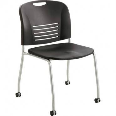 Safco Vy Straight Leg Stack Chairs with Casters (CA/CASE)
