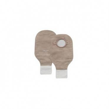 """New Image 2-Piece Drainable Pouch 2-3/4"""" With Filter, Beige (10/Box)"""