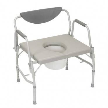 Deluxe bariatric drop-arm commode, assembled, grey part no. 11135-1 (1/case)