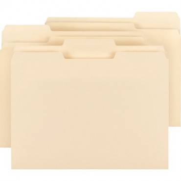 Business Source 1/3 Cut Tab Plain Manila File Folders (BX/BOX)