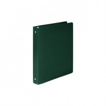 "Accohide Poly Round Ring Binder, 3 Rings, 1"" Capacity, 11 X 8.5, Dark Green"