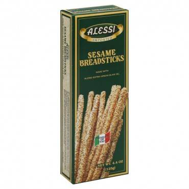 Alessi Breadsticks - Sesame - Case Of 12 - 4.4 Oz.