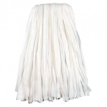 Nonwoven Cut End Edge Mop, Rayon/polyester, #24, White, 12/carton