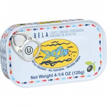Bela-olhao Sardines In Olive Oil - 4.25 Oz - Case Of 12