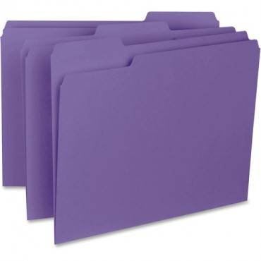 Business Source 1/3-cut Colored Interior File Folders (BX/BOX)