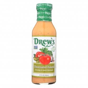 Drew's Organics Organic Dressing & Quick Marinade, Thousand Island  - Case of 6 - 12 FZ