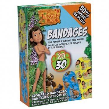 Ouchies Jungle Book Adhesive Bandages 30 Ct Part No. Jb-7470-c (20/box)