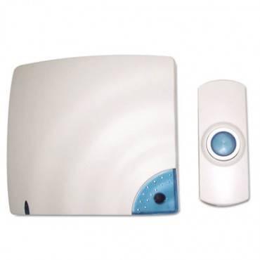 Wireless Doorbell, Battery Operated, 1.38w X 0.75d X 3.5h, Bone