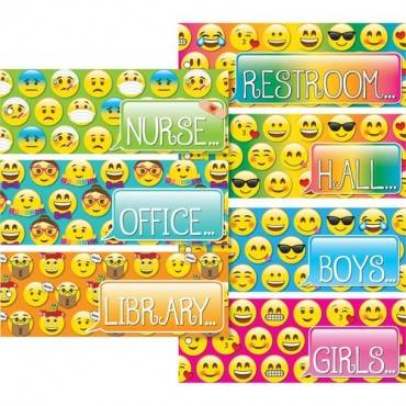 Ashley Emoji Design Decorative Hall Pass (ST/SET)