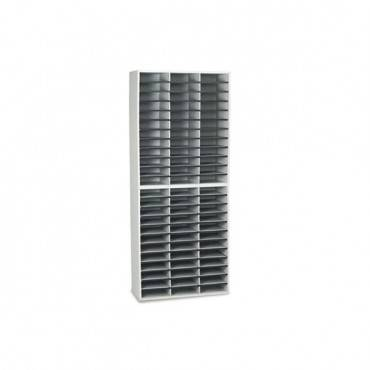 Literature Organizer, 72 Letter Sections, 29 X 11 7/8 X 69 1/8, Dove Gray