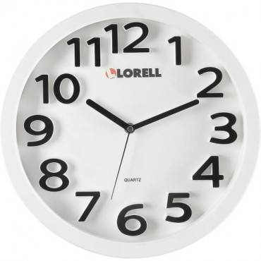 "Lorell 13"" Round Quartz Wall Clock (EA/EACH)"