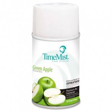 Premium Metered Air Freshener Refill, Green Apple, 5.3 Oz Aerosol, 12/carton