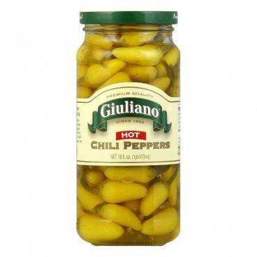Giuliano's Specialty Foods - Hot Chili Peppers - Case Of 6 - 16 Oz.